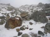 白馬の雪の登山道