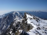 白馬山頂から剣岳を望む